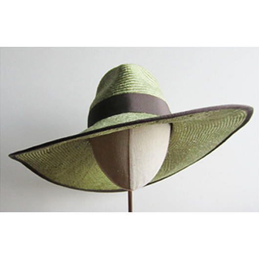 Wide Brim Green Hat