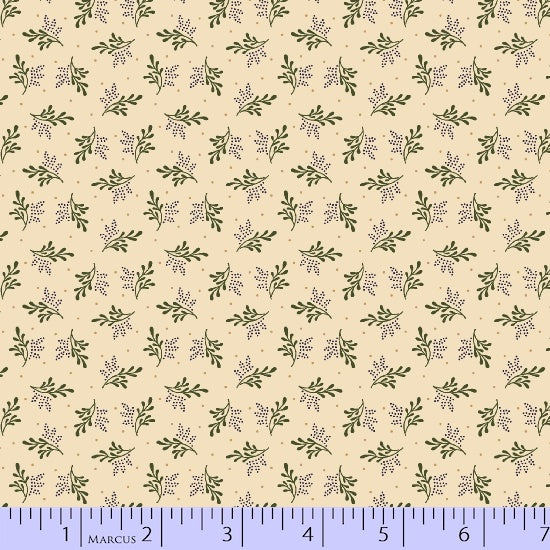 Pam Buda - R17 Antique Cotton Calicos: Old Green Calicos. 2352-0188. Fabric bt the yard