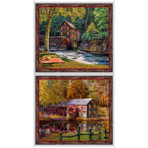"Quilting Treasures Digital Artworks Viii Barns Picture Patches 24"" Panel"