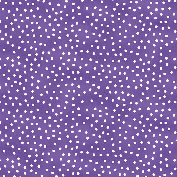Garden Gathering Dots (Purple) from Wilmington Prints by the yard