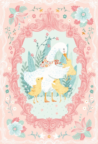 Ducky Tales 30in Duck Panel Pink Fabric