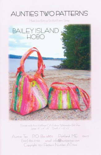 Aunties Two Patterns - Bailey Island Hobo Bag