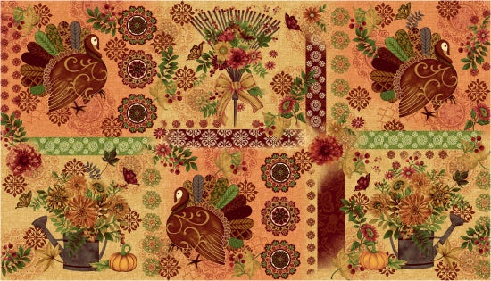 Studio E Fabrics Fall Festival Placemats Cream Fabric By The Yard