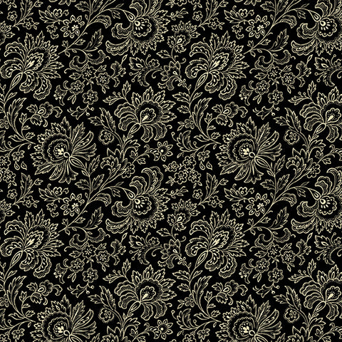 Andover Beehive by Renee Nanneman - Black Jacobean. Fabric by the yard