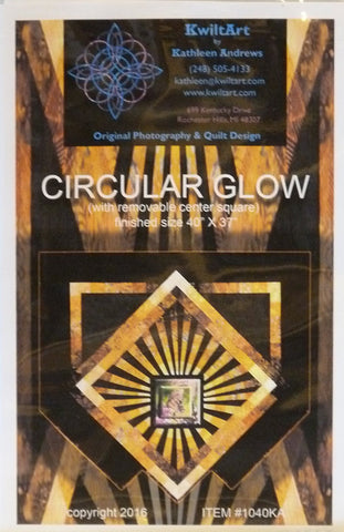 Circular Glow by Kathleen Andrews for Kwiltart, Pattern
