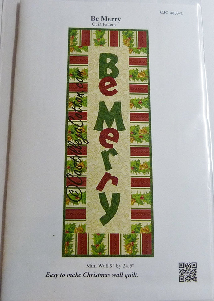 Be Merry, Mini Appliqued Wall Hanging by Diane Mcgregor