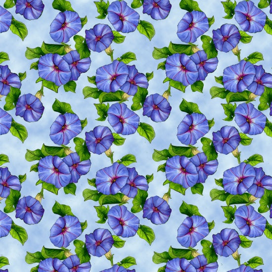 Blank Quilting - Prairie Gate Lt Blue 8579-011, Fabric by the yard