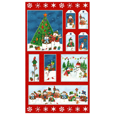 Winter Wishes 24in Panel Multi Fabric