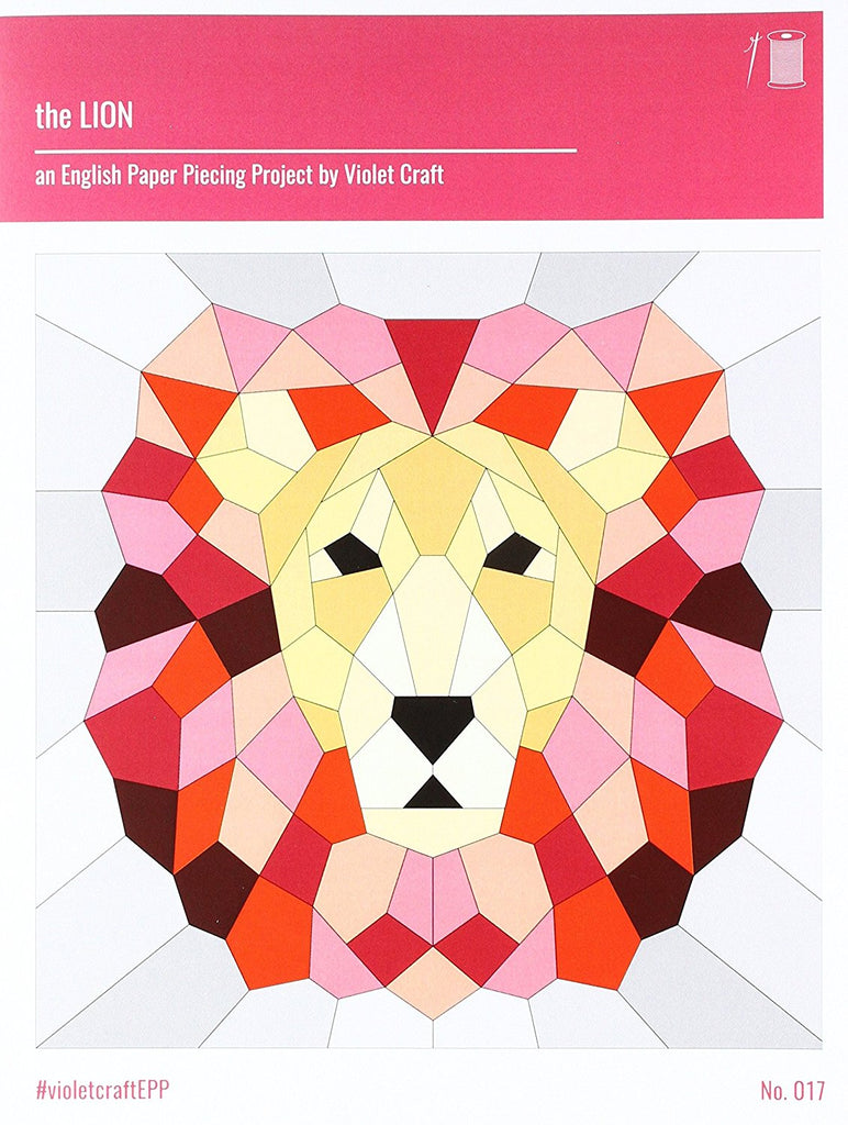 Violet Craft the Lion English Paper Piecing Pattern