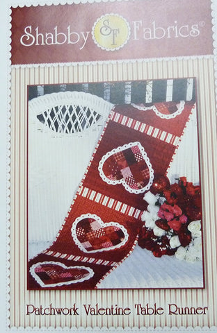 Patchwork Valentine Table Runner by Shabby Fabrics