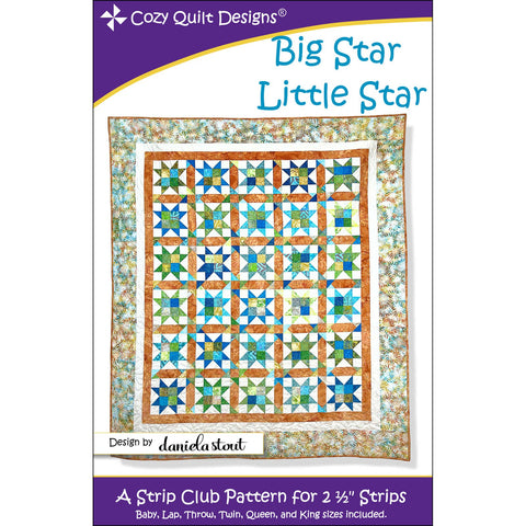 Big Star Little Star Quilt Pattern  By Cozy Quilt Designs