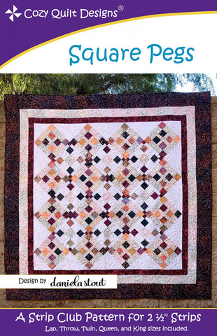 Cozy Quilts Designs -  Square Pegs Pattern