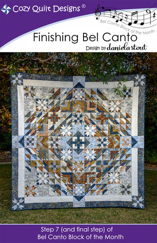 Cozy Quilt Designs CQD01207 Bel Canto Step 7 Bom Finishing Pattern