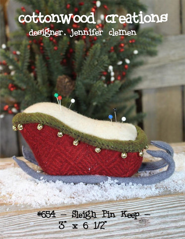 Cottonwood Creations CWC654 Sleigh Pin Keep Pattern