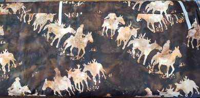 4everquilting Mule Train Batik -Earth. Fabric by the yard