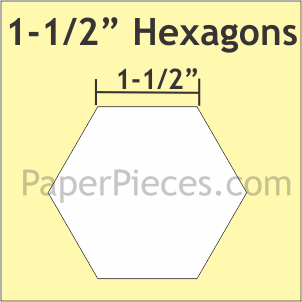 "1 1/2"" Hexagons"