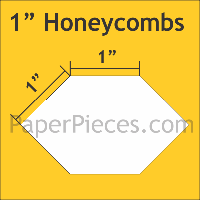 "1"" Honeycombs: Bulk Pack 1200 Pieces"