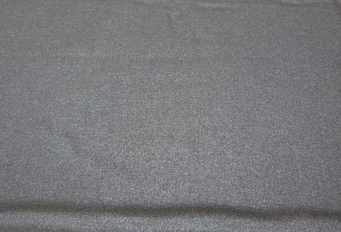 Frou-Frou All that shines Uni Poplin Metallic Silver - Fabric by the yard