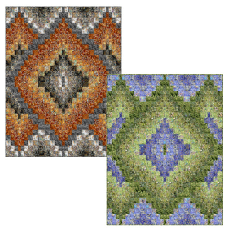 Layered Diamonds Quilting Pattern by Pine Tree Country Quilts