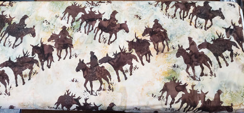 4everquilting Mule Train Batik -Palomino. Fabric by the yard