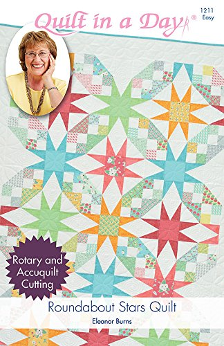 Roundabout Stars Quilt Pattern 3 Sizes Eleanor Burns for Quilt in A Day …
