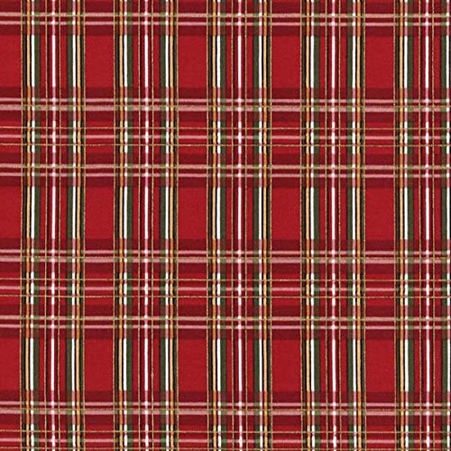Timeless Treasures Fabrics Christmas Plaids 2017 Red Plaid
