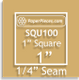 "1"" Square Acrylic Fabric Cutting Template"