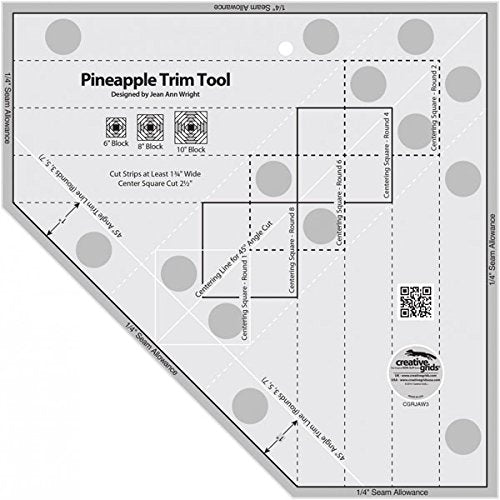 Creative Grids Standard Pineapple Trim Tool Quilting Ruler Template [CGRJAW3]