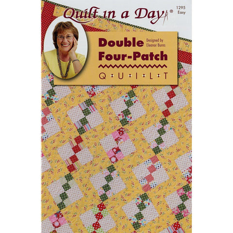 Quilt in a Day Eleanor Burns Pattern, Double Four-Patch Quilt