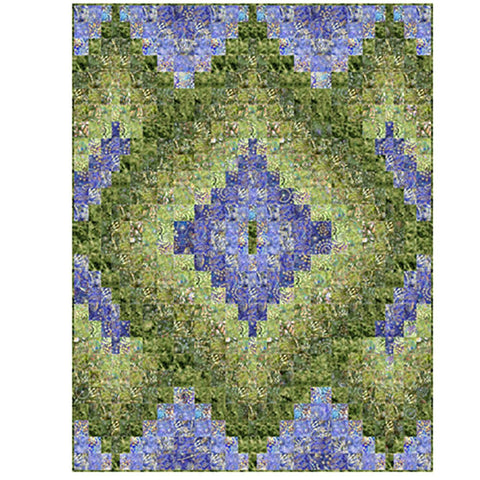 Botanica Layered Diamonds Quilt Kit  Green