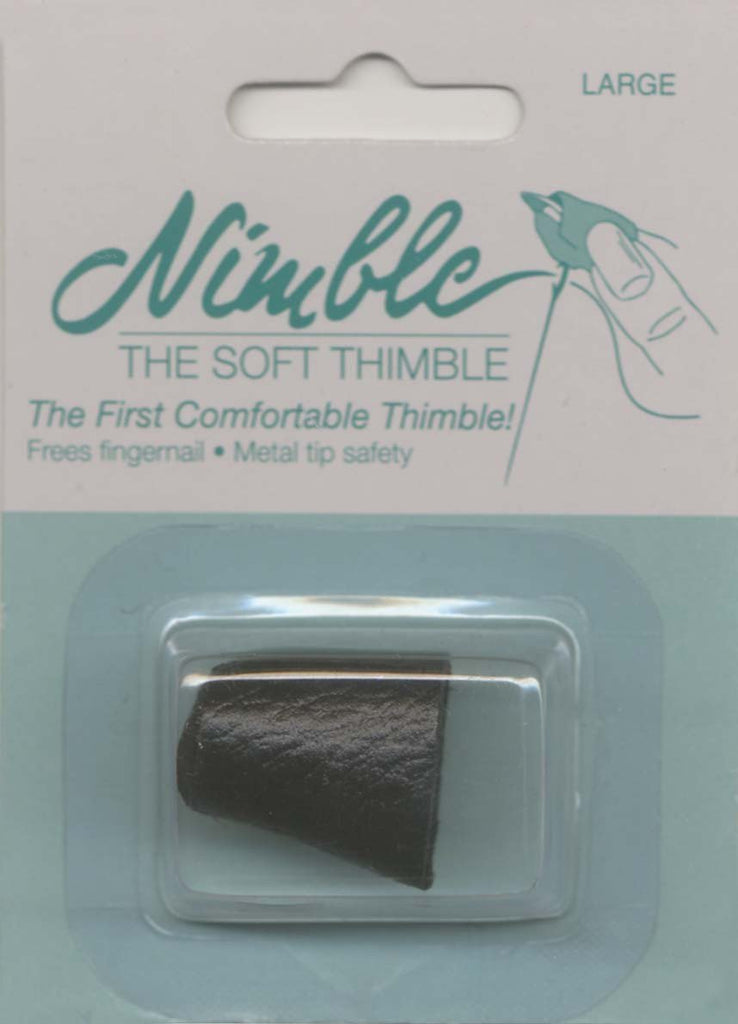 Leather Nimble Thimble With Metal Tip-Large