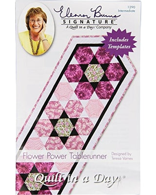 Quilt in a Day Eleanor Burns Signature Patterns- Flower Power Tablerunner