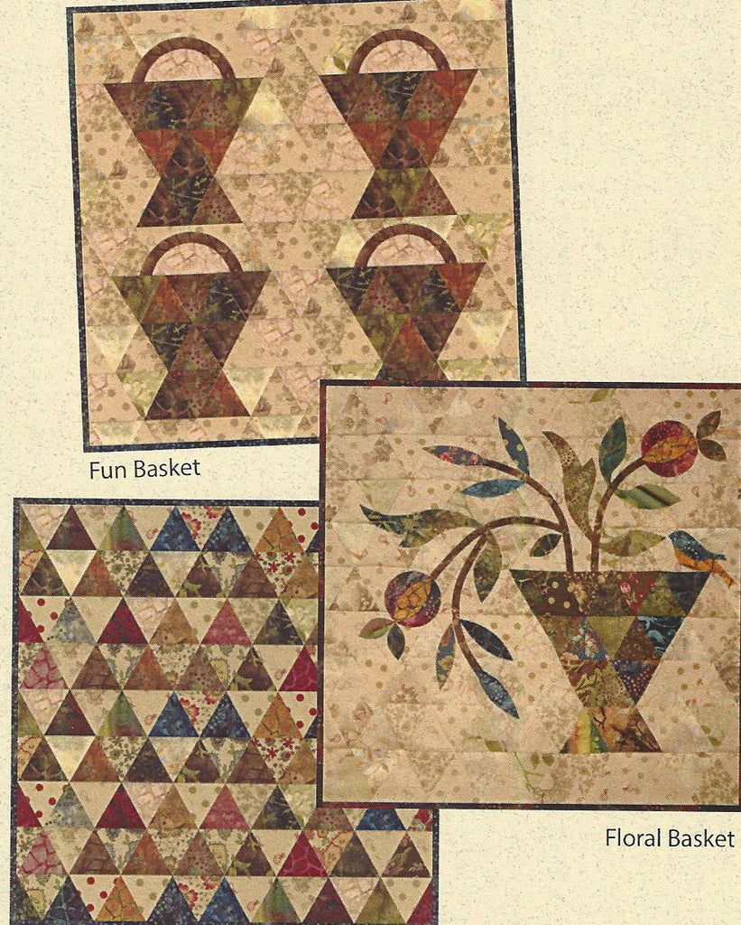 Laundry Basket Quilts - Scrappy Basket Trio quilt pattern