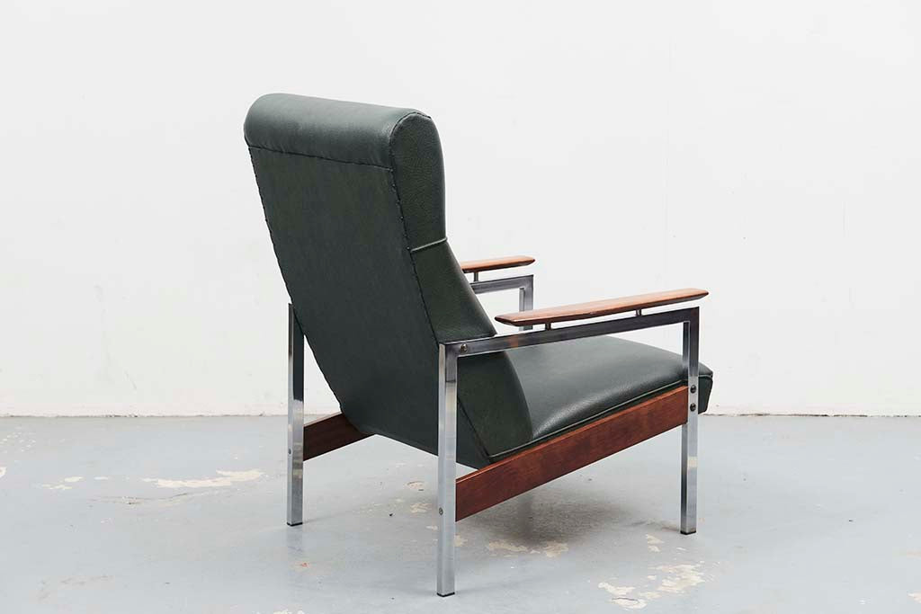 Fauteuil vert style Rob Parry