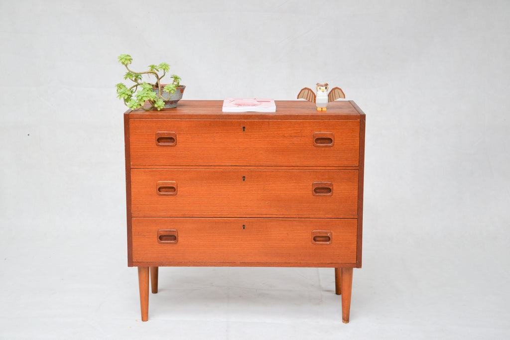 Commode scandinave en teck - Cartel de Belleville mobilier vintage paris