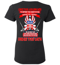 (Double Sided) Proud Veteran T-Shirt - trendninjas