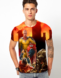3D Design Saitama vs All Unisex Double Sided Sublimation Unisex T-Shirt - trendninjas