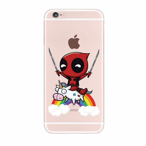marvel For iPhone 4S 5S 6S 6Plus 7Plus 7 Samsung Galaxy  Deadpool