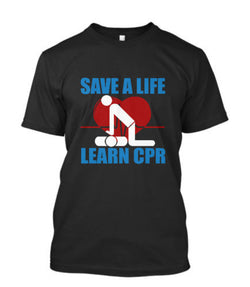SAVE A LIFE LEARN CPR  Paramedic Mens T-Shirt 3D - trendninjas