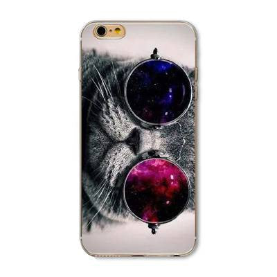 Cat glasses Pattern Case Cover For iphone 5 5s se  for iphone 6 6s