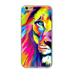 Lion Pattern Case Cover For iphone 5 5s se  for iphone 6 6s - trendninjas