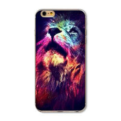 Lion Multi-color Pattern Case Cover For iphone 5 5s se  for iphone 6 6s - trendninjas
