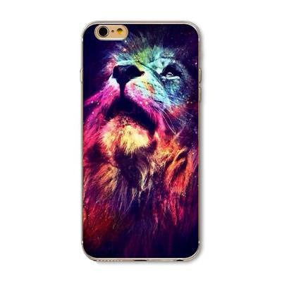 Lion Multi-color Pattern Case Cover For iphone 5 5s se  for iphone 6 6s