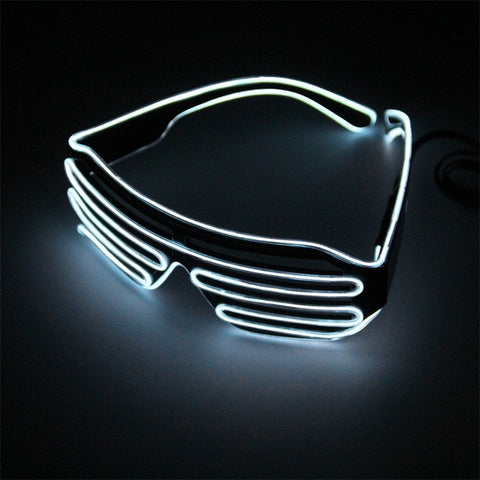 Silver LED Glasses Light Up Shades