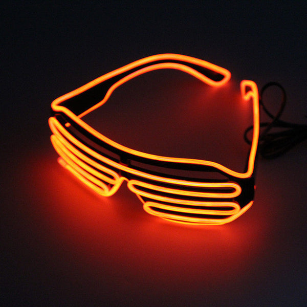 Orange LED Glasses Light Up Shades - trendninjas