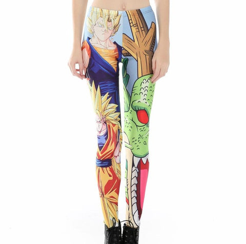 Women Dragon Ball Pattern Leggings 3D Printed - trendninjas