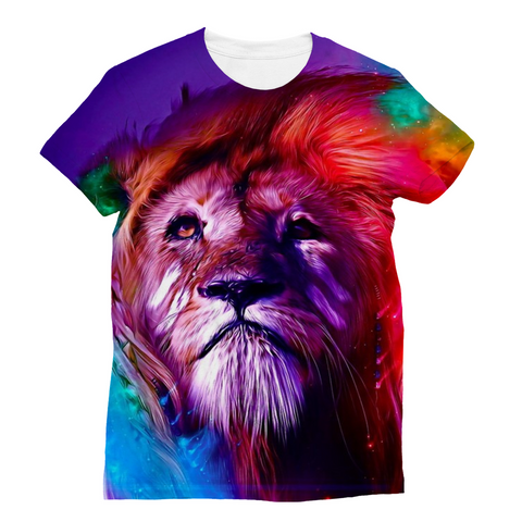 Colorful Lion Sublimation T-Shirt