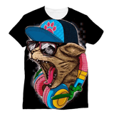 Cool Cat Wearing Hat Sublimation T-Shirt
