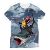 Cowboy Dubya - The Shark Rider Sublimation Unisex T-Shirt - trendninjas
