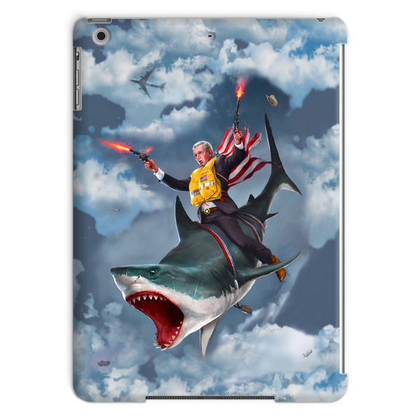 Cowboy Dubya - The Shark Rider Tablet Case - trendninjas